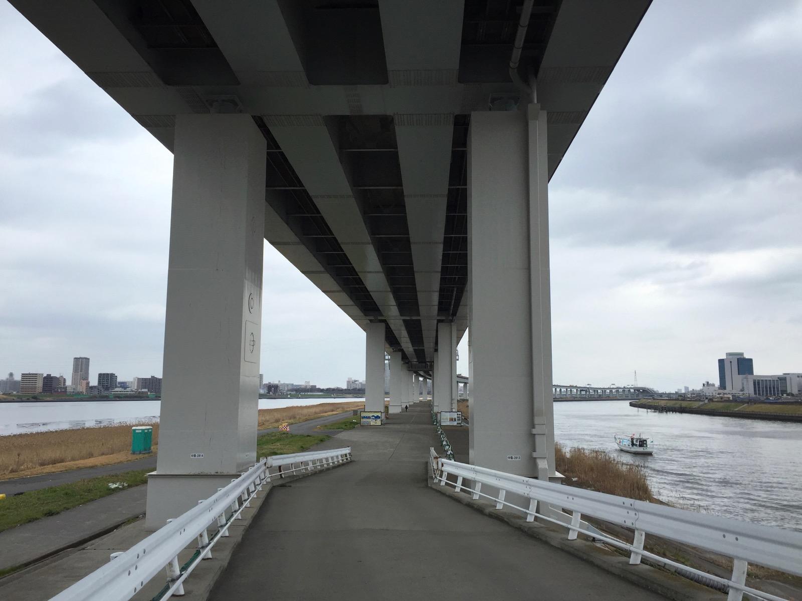 荒川と綾瀬川を従える中堤防