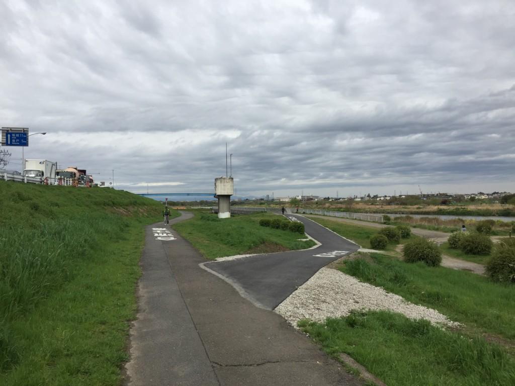 右が平瀬橋を迂回できる新道