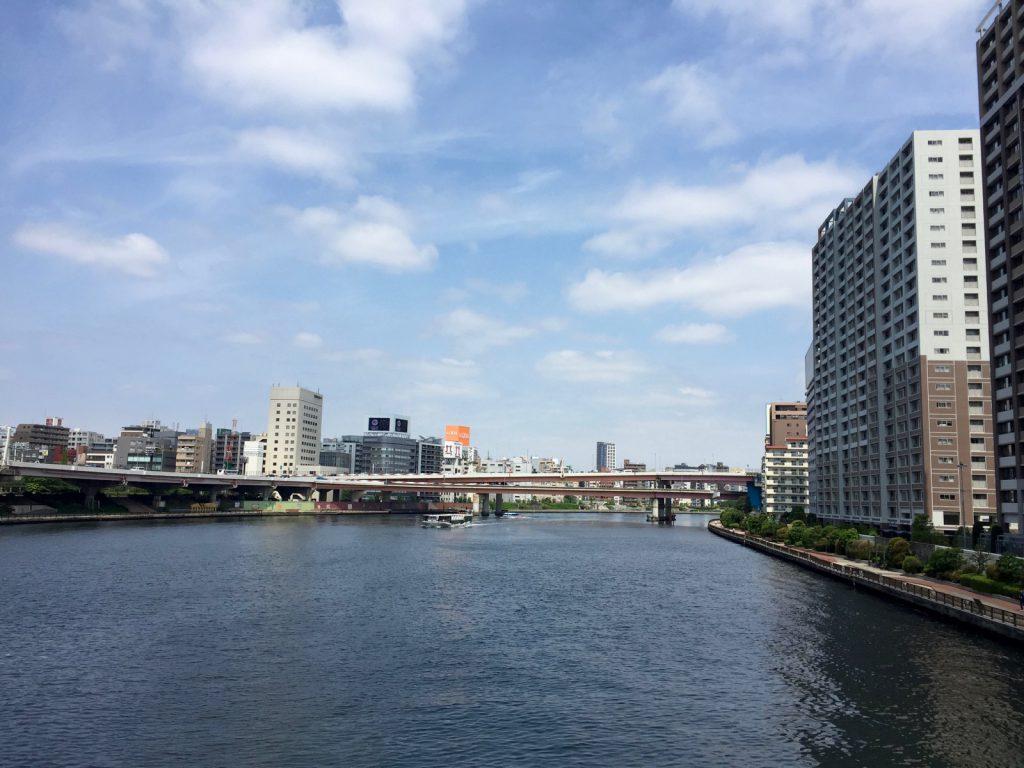 新大橋から隅田川