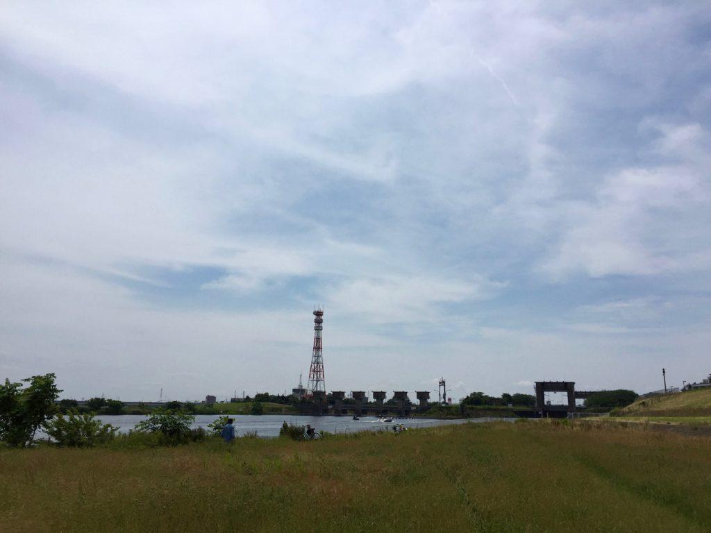 いつものどかな篠崎水閘門