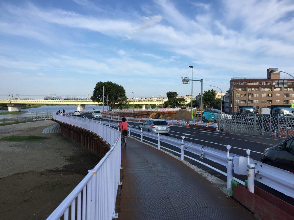 多摩水道橋付近が大改修